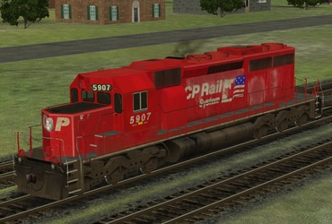 Canadian Pacific SD40-2 dual flag - The Train